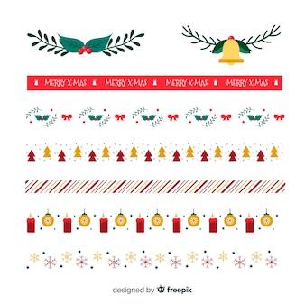Bella confezione di bordi natalizi