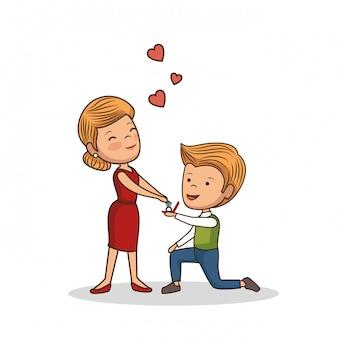 Bella coppia di san valentino