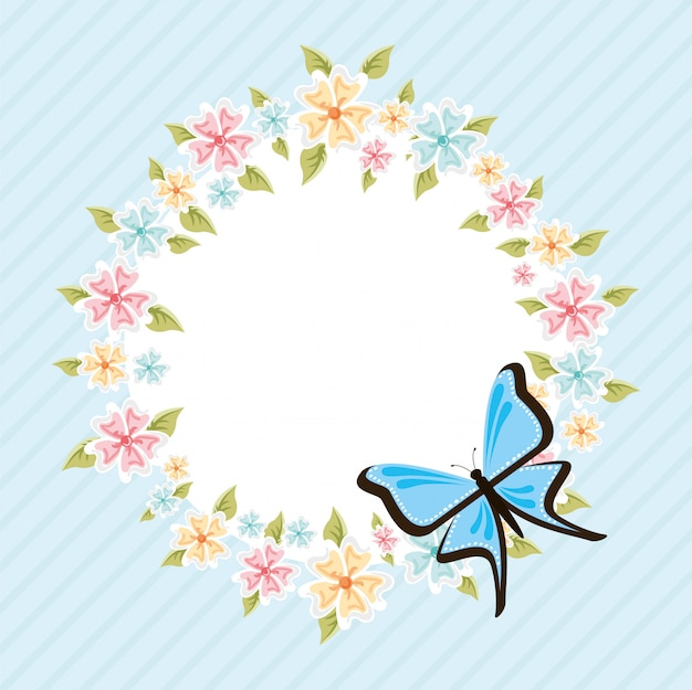 Bella cornice a farfalla
