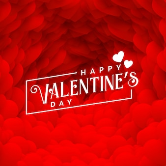 Bella cornice di cuori rossi per felice giorno di san valentino