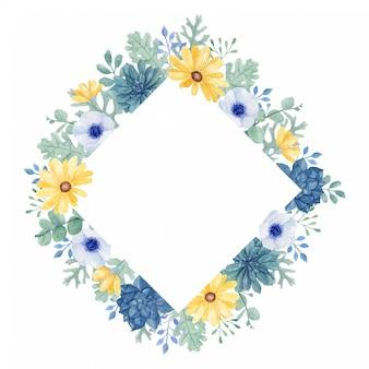 Bella cornice floreale completa