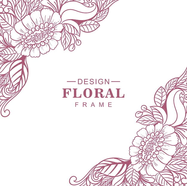 Bella cornice floreale etnica decorativa