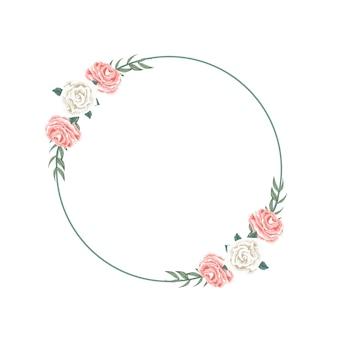 Bella disposizione di corona floreale per dedizione