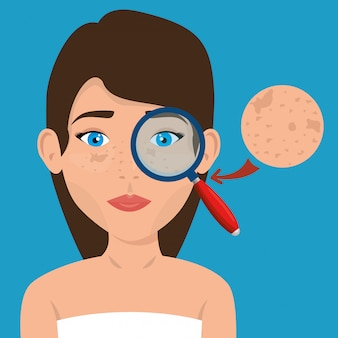 Bella donna in trattamento viso