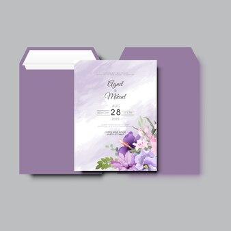 Bella ed elegante carta di invito a nozze