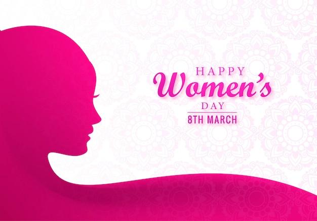 Bella giornata della donna 8 marzo sfondo cartolina d'auguri
