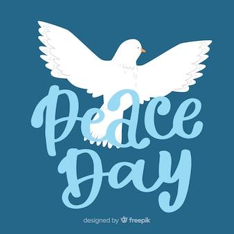 Bella giornata di composizione di pace con scritte carine