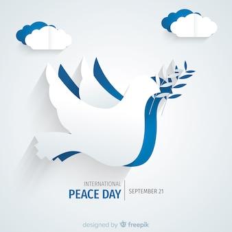 Bella giornata di pace sullo sfondo