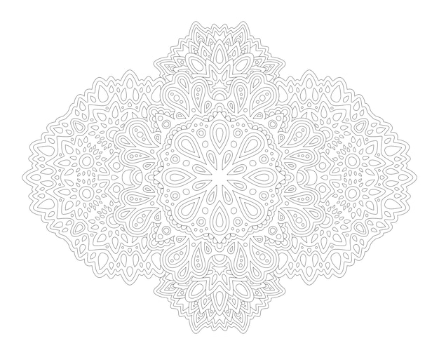 Bella illustrazione mandala per libro da colorare