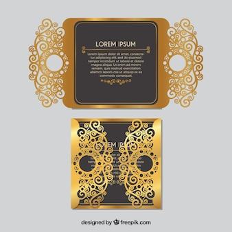 Bella invito ornamentale dorato