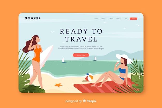 Bella landing page di viaggio