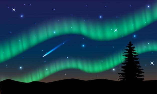 Bella luce della norvegia del nord
