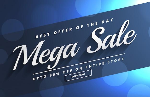 Bella mega vendita banner modello di progettazione