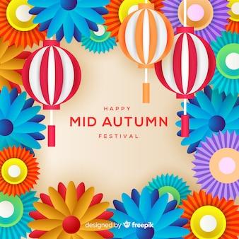 Bella metà autunno festival sfondo concetto