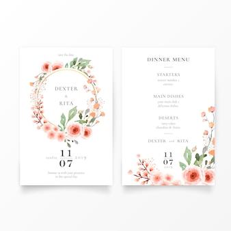 Bella modello di invito a nozze