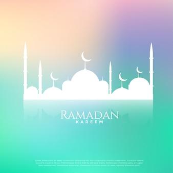 Bella moschea su bellissimo sfondo