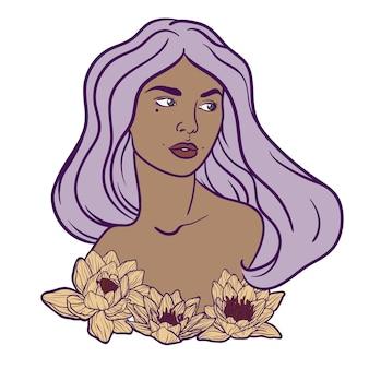 Bella ragazza con fiori