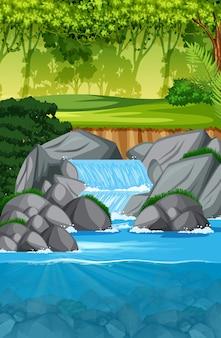 Bella scena paesaggio cascata