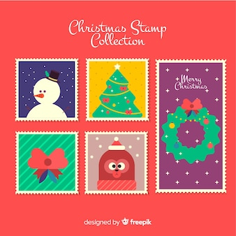 Bella serie di francobolli natalizi