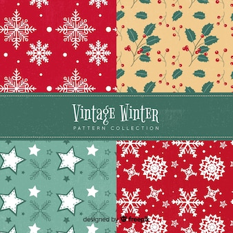Bella serie di modelli invernali colorati
