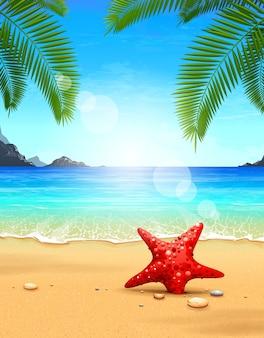 Bella spiaggia di progettazione