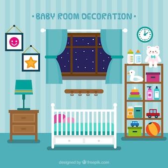 Bella stanza del bambino con i giocattoli