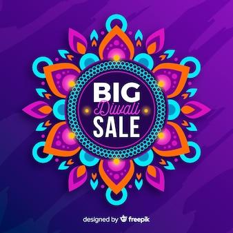 Bella vendita diwali in design piatto