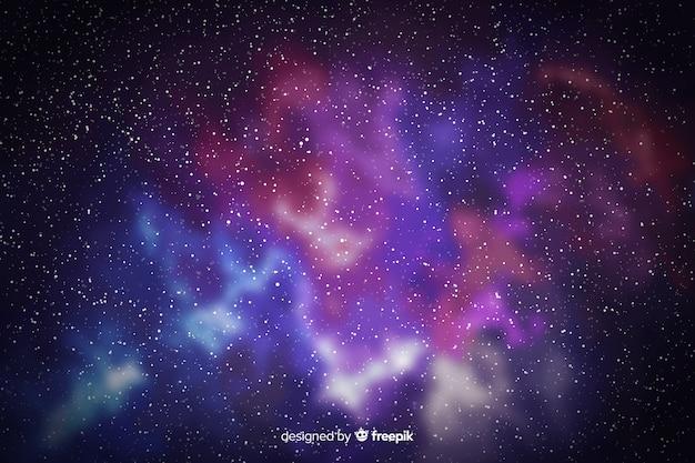 Bella vista sullo sfondo di particelle di galassia