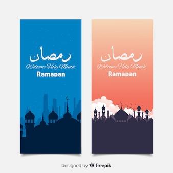 Belle bandiere del ramadan