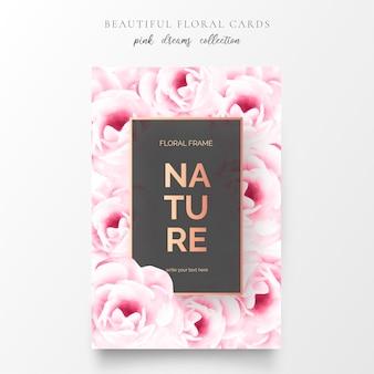 Belle carte floreali con fiori incantevoli