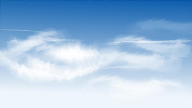 Belle nuvole su sfondo blu cielo.