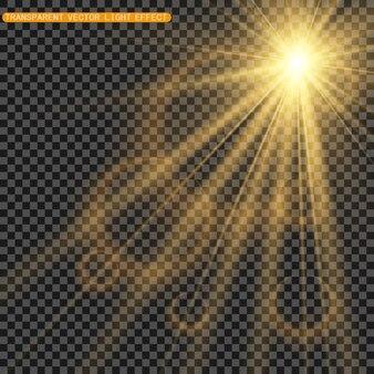 Belle scintille brillano di luce speciale. brilla su uno sfondo trasparente. modello astratto di natale. una bella illustrazione per la cartolina. lo sfondo per l'immagine. luminari.