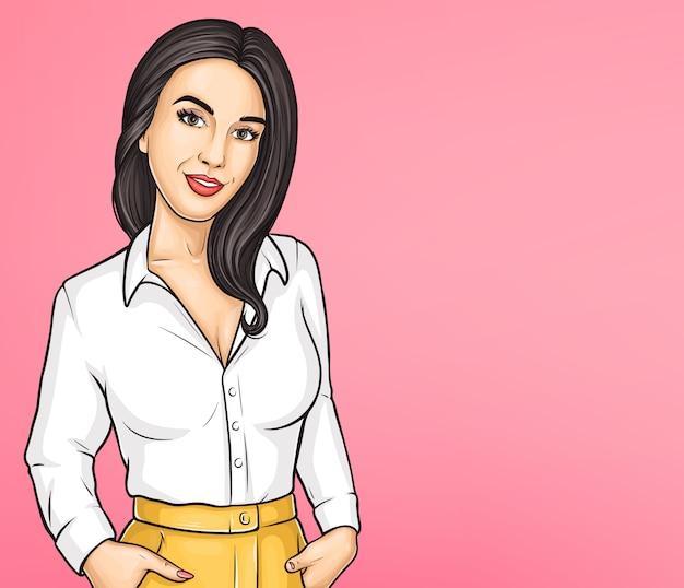 Bellezza delle donne, modello di poster pubblicitario di moda
