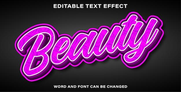 Bellezza stile effetto testo