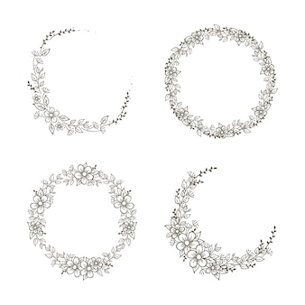 Bellissima collezione di ghirlande floreali