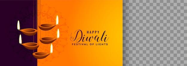 Bellissima lampada a sospensione di diya per il festival di diwali