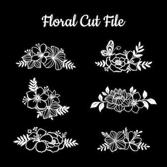 Bellissimi elementi di taglio floreale