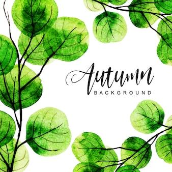 Bellissimo acquerello autunno sfondo