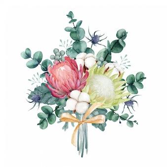Bellissimo bouquet ad acquerello