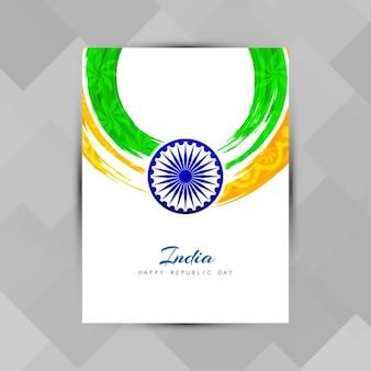Bellissimo design brochure tema bandiera indiana