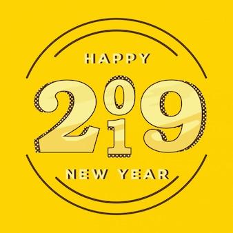 Bellissimo design di felice anno nuovo 2019