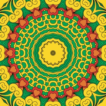 Bellissimo design geometrico giallo full frame