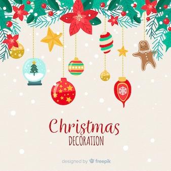 Bellissimo design piatto di decorazione natalizia