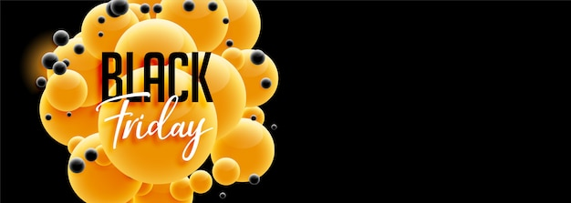 Bellissimo design venerdì nero banner in stile 3d