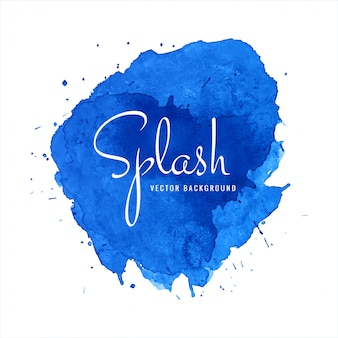 Bellissimo disegno acquerello blu splash