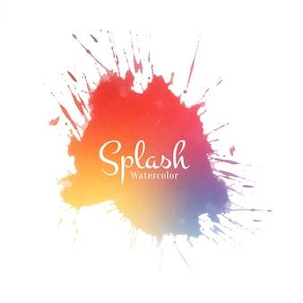 Bellissimo disegno ad acquerello colorato splash