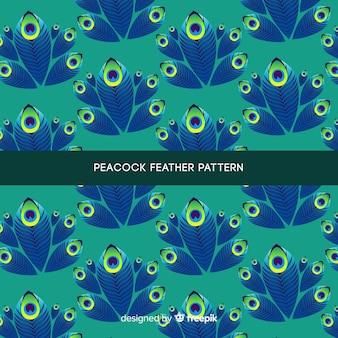 Bellissimo disegno del modello di piume di pavone
