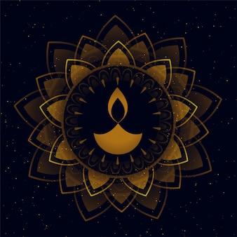 Bellissimo diya decorativo per il festival di diwali