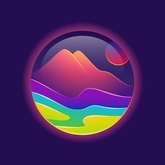 Bellissimo logo del paesaggio