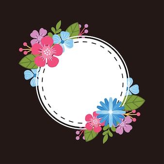 Bellissimo modello di cornice floreale